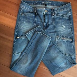WHBM THE SKIMMER JEAN 😎Distressed